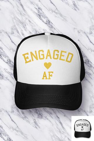 Engaged AF Bride Hat - PICK COLOR
