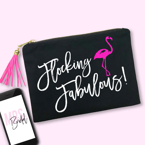 Flocking Fabulous Makeup Bag