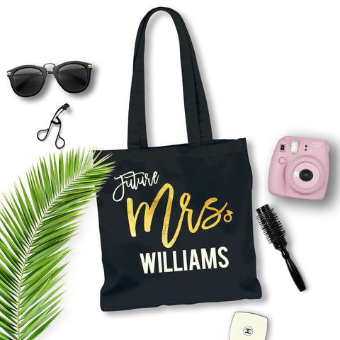 Future Mrs. Custom Gold Foil Tote Bag