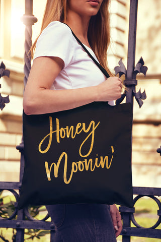 HoneyMoonin' Gold Foil Tote Bag - Pick Color