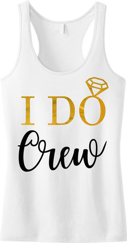 I DO CREW Gold Foil Tank Top, White