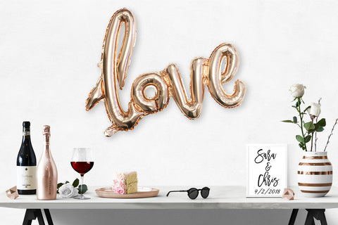 """LOVE"" Rose Gold Foil Party Balloon"