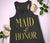 Maid of Honor VOGUE Tank Top with Gold Foil Print - 4 Colors