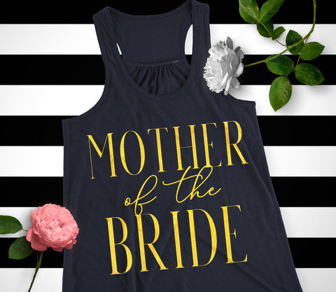 Mother of the Bride VOGUE Tank Top with Gold Foil Print - 4 Colors