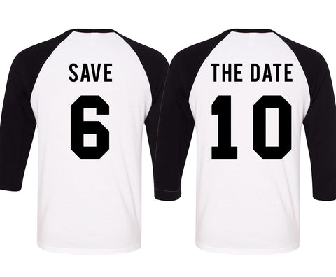 SAVE THE DATE Baseball Tees Set