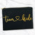 TEAM BRIDE Cursive Heart Makeup Bag Gold Foil