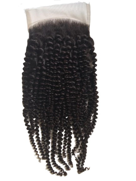 Exotic Kinky Curly 4x4 Closure - KLH Botanicals