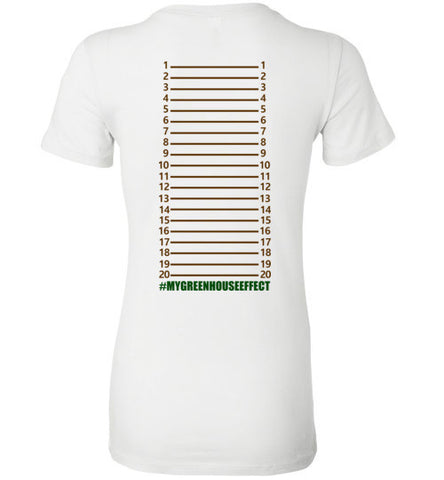 Ladies Greenhouse Length Check T-Shirt - KLH Botanicals