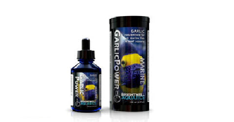 Brightwell Aquatics Garlic Power, 1 fl. oz. Concentrated Garlic Enrichment for Marine Fishes, 30 mL