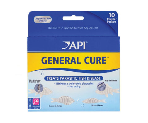 API GENERAL CURE™ POWDER Parasitic Fish Disease Treatment, 10 Powder Packets