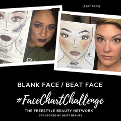 The Freestyle Beauty Network Blank Face Beat Face Face Chart Challenge
