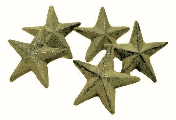 "40pc Western 2"" Nail Star Cast Iron for Crafts All-Purpose Craft Supplies Carvers Olde Iron"