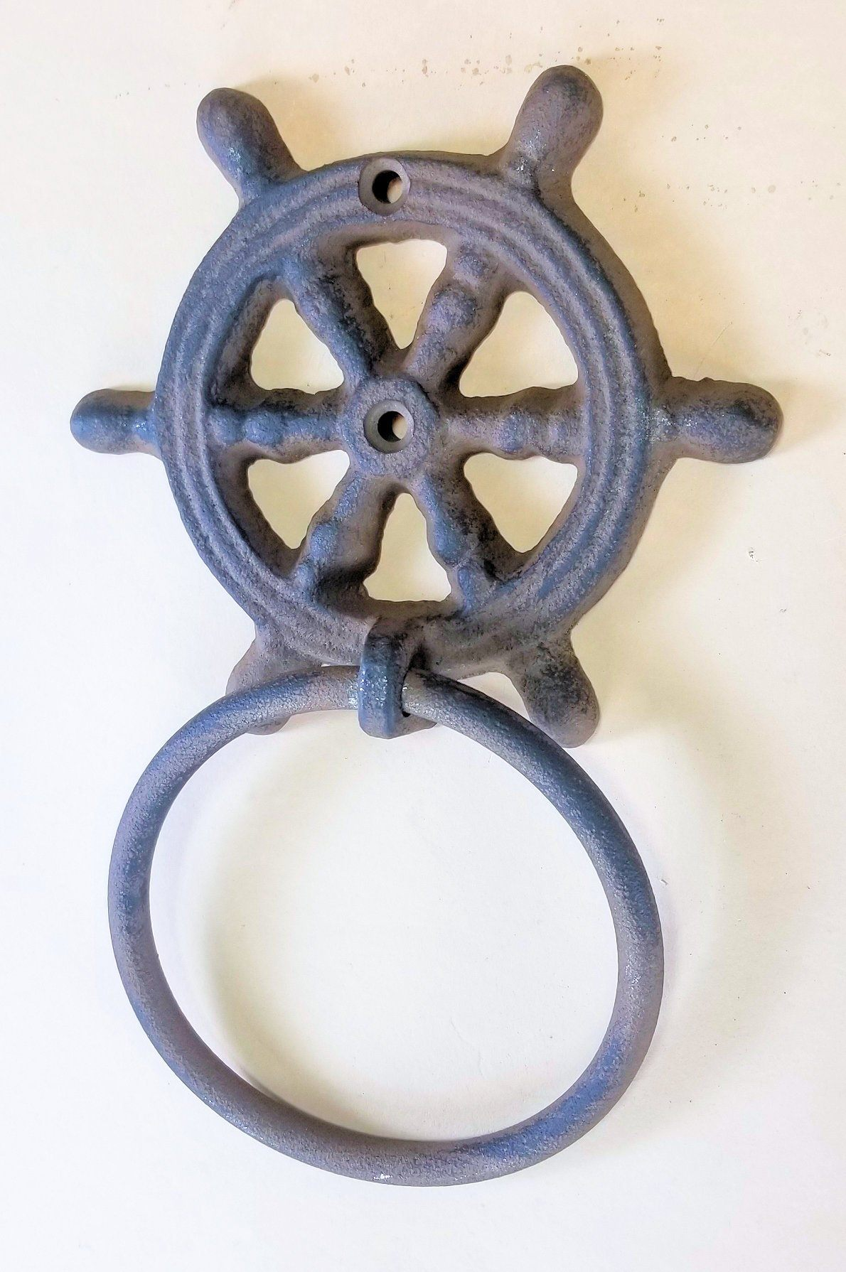 cast iron ships wheel towel ring for the bath carvers olde iron