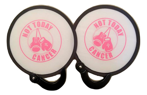 2 pc Not Today Cancer Popup Fan Folding Purse Size fan Carvers Olde Iron