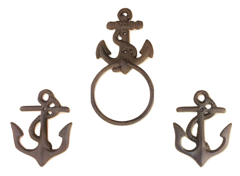 Nautical Anchor Toilet Paper Holder Stand Portable