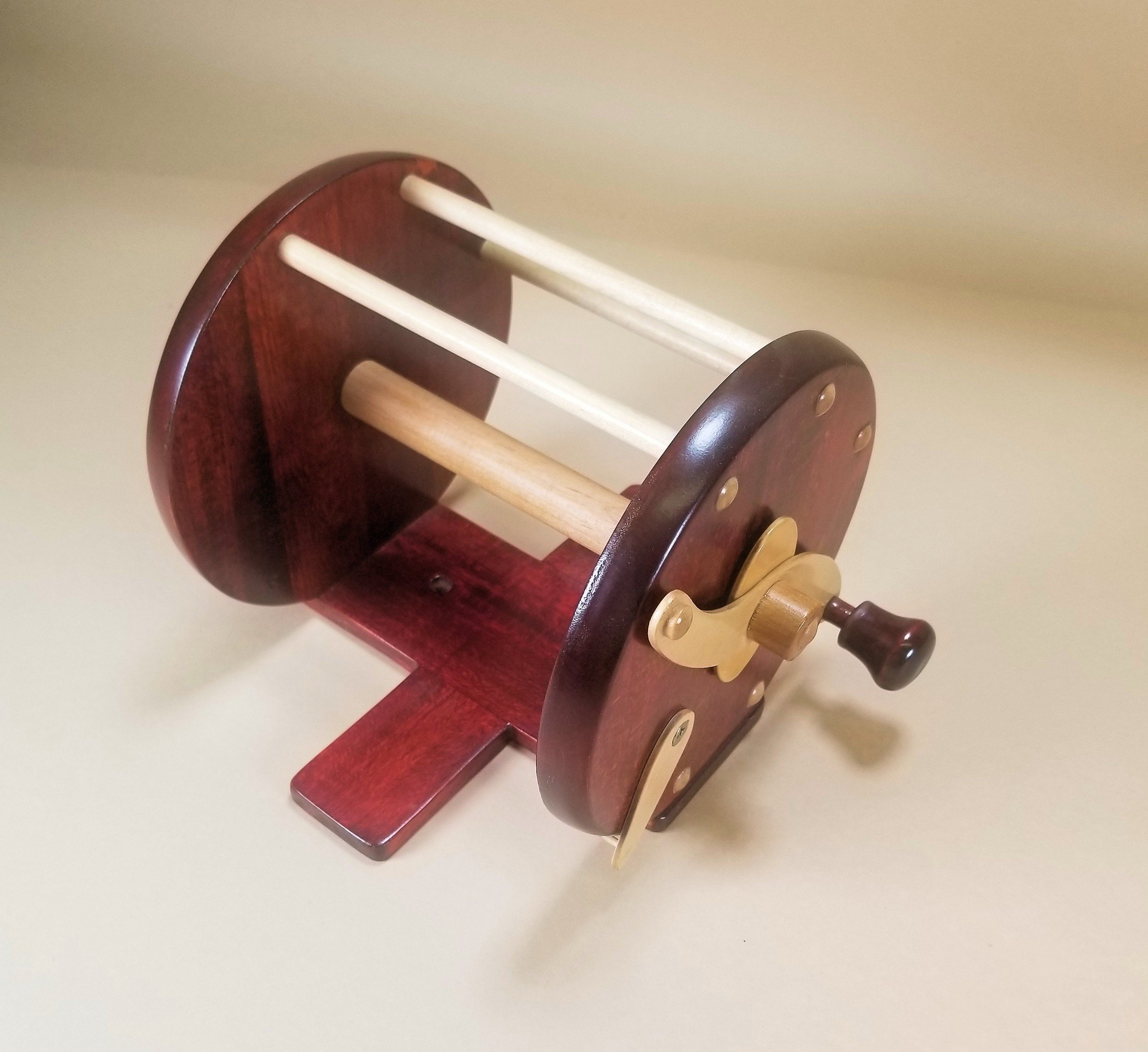 Beautiful Wooden Toilet Paper Fishing Reel Toilet Paper Holders-Mounted Carvers Olde Iron
