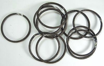 "20pc 5.5"" Round Welded 1/4"" Steel Rings Crafting All-Purpose Craft Supplies Carvers Olde Iron"