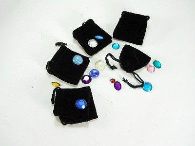 "25pc Black Velvet Draw String Jewelry Bags 2"" x 2 1/2"""