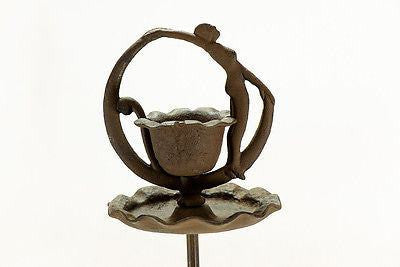 Cast Iron Dancing Lady Ashtray Stand Adjustable Ashtrays Carvers Olde Iron