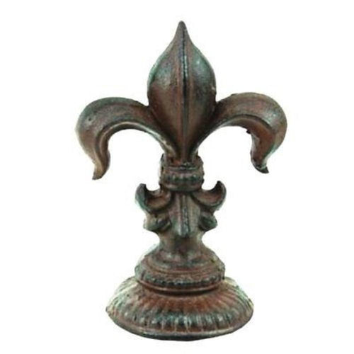 Fleur De Lis Cast Iron Door Stop Lys French decor Goth paper weight medieval