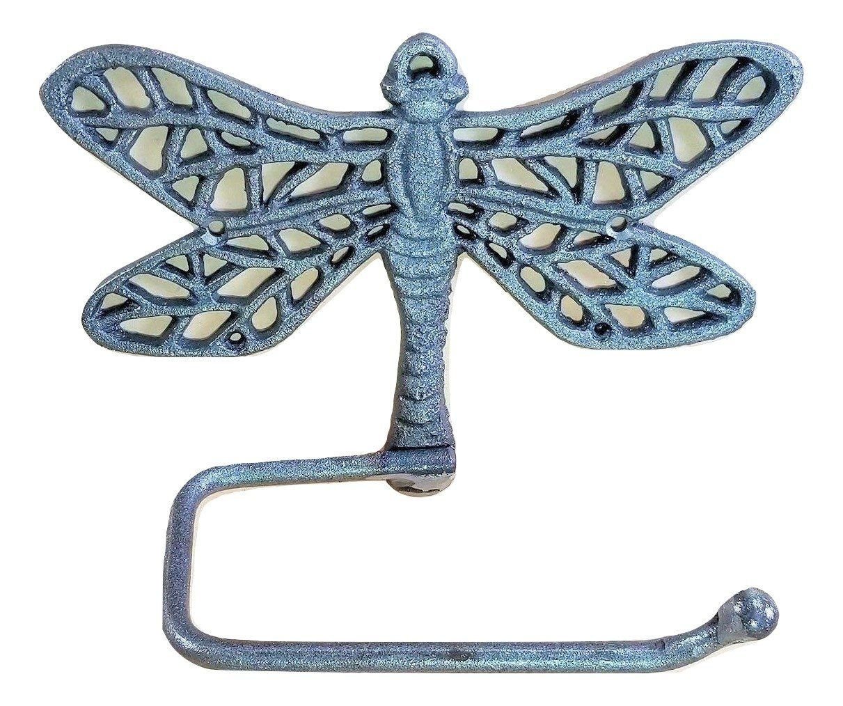 Cast Iron Dragonfly Toilet Paper Holder for the wall