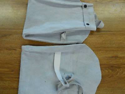 Pair Welders Sleeves Leather Cape Cover Protection Fire Welding & Soldering Tools Unbranded