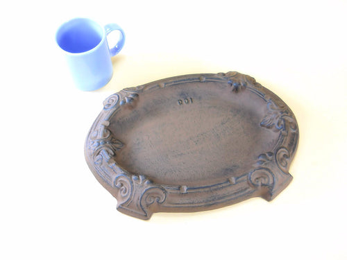 Giant Cast Iron Ashtray for Smokers Table Model Ashtrays Carvers Olde Iron
