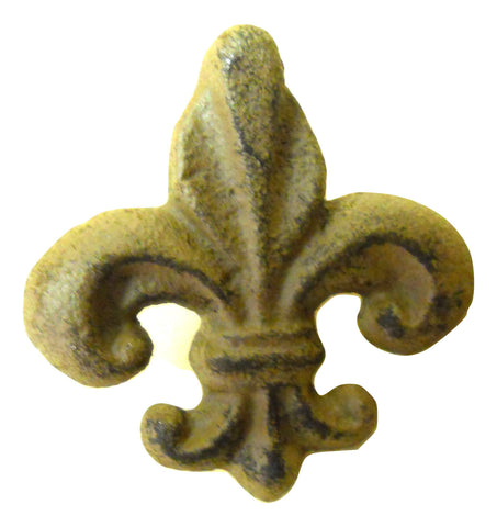 Fleur de Lis Lys Heavy Cast Iron Bookends