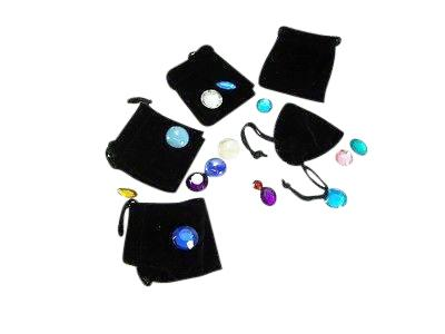 small felt jewelry bags tie string black coi