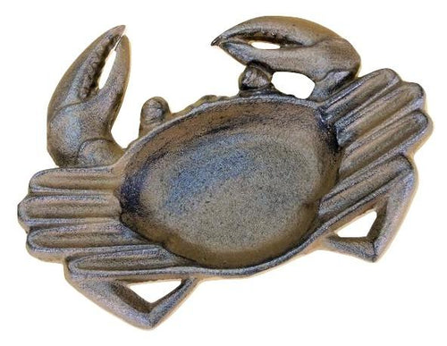 Cast Iron Crab Ashtray Nautical Decor Sailor Fishermen Gift