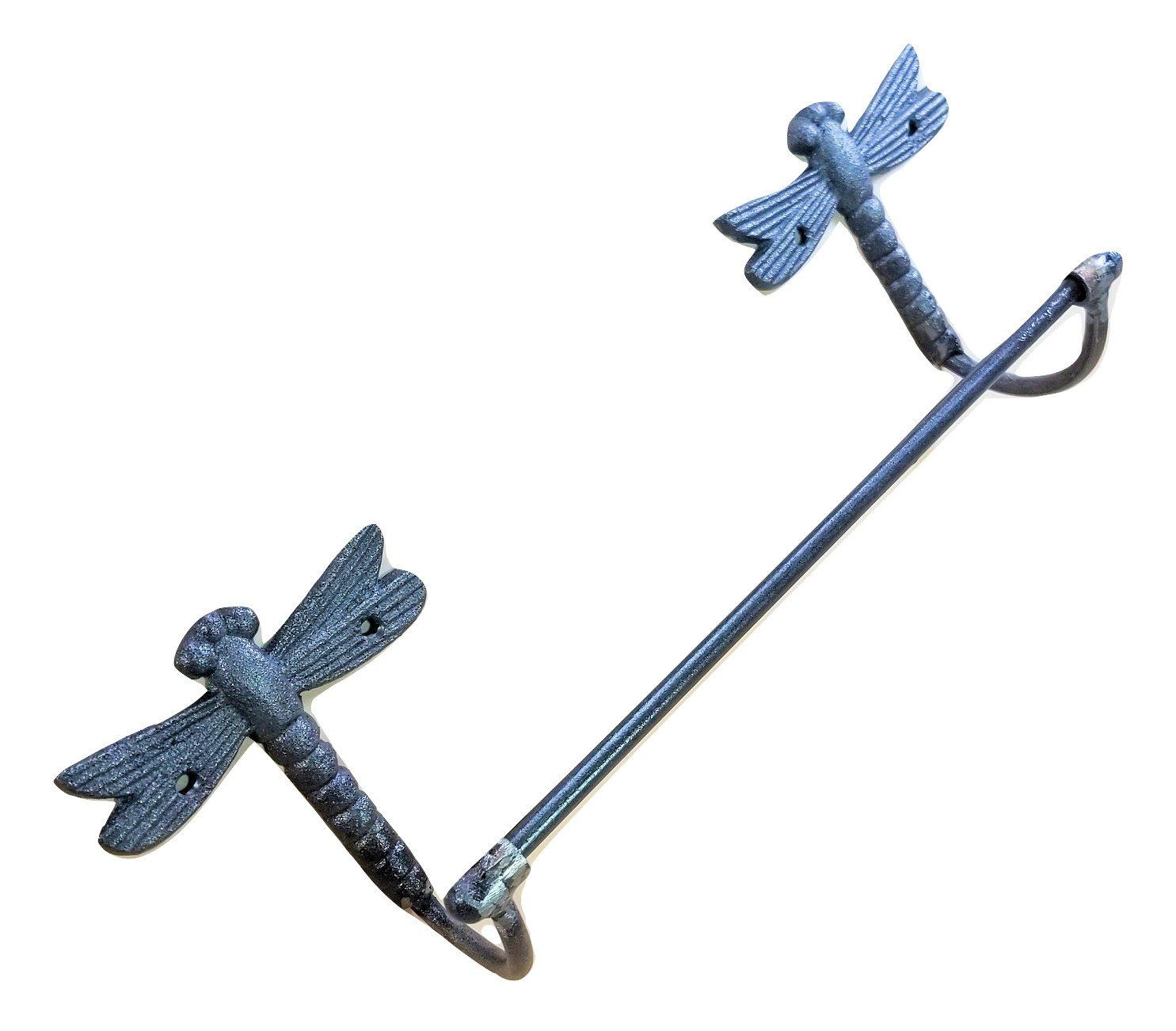dragonfly towel bar cast iron unpainted carvers olde iron