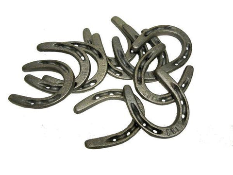 "10 Pc Cast Iron Horseshoes Crafting HS3 5"" x 5"""