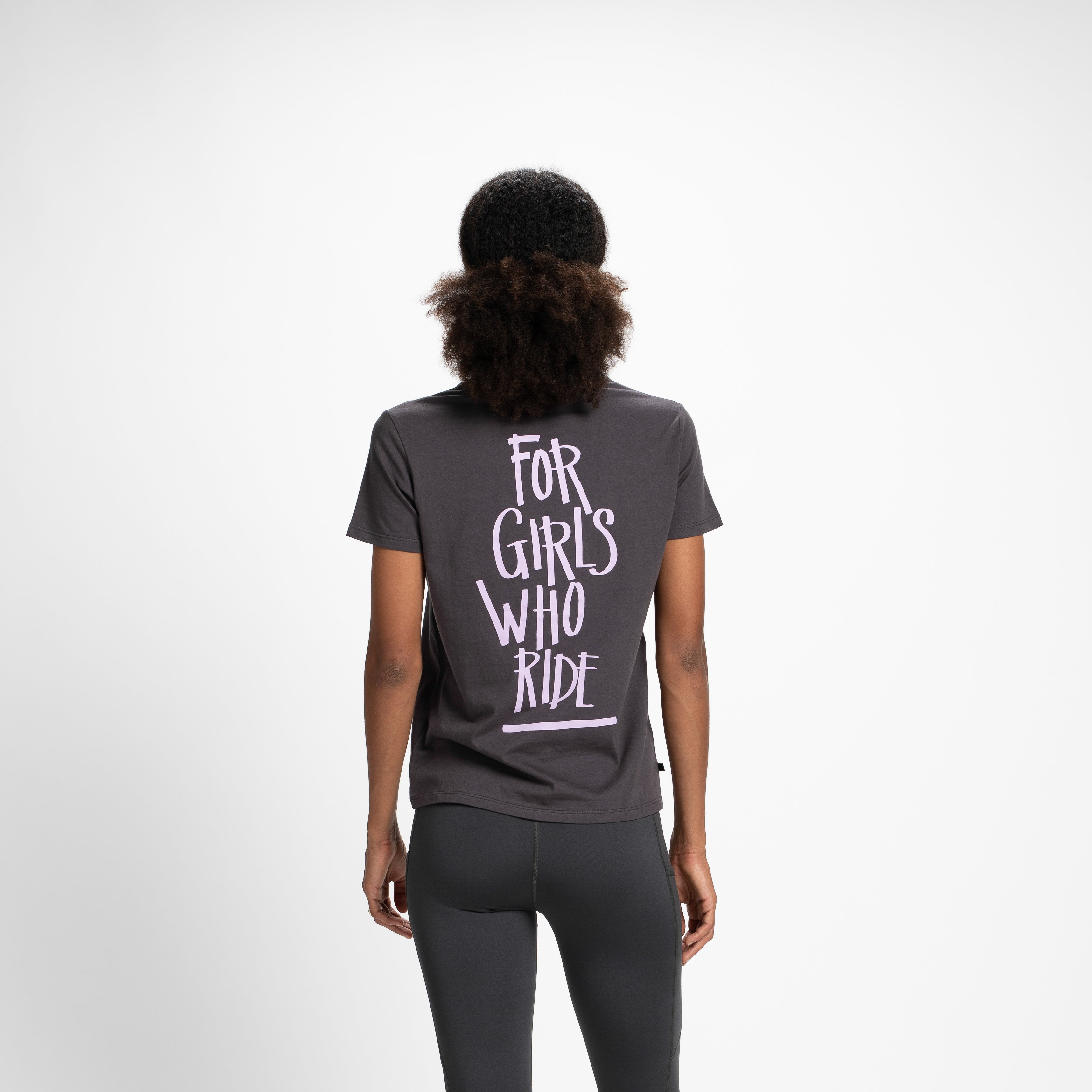 Nikita For Girls Who Ride Shirt As If SS Tee Charcoal Grey Black