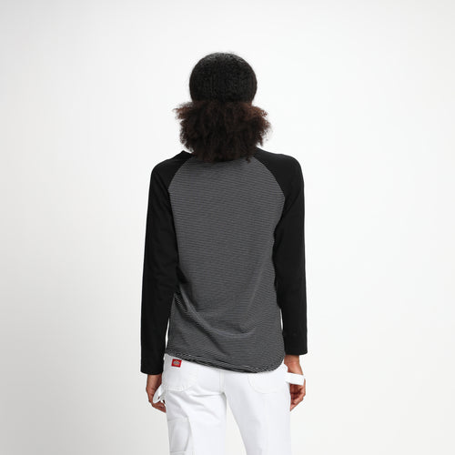 Nikita Maywood Longsleeve Tee Black gestreift