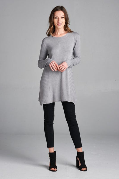 Soft and Cozy Sweater Dress with Side Seam Details
