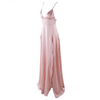 'Ann-Marie' blush empire cut  double split maxi dress