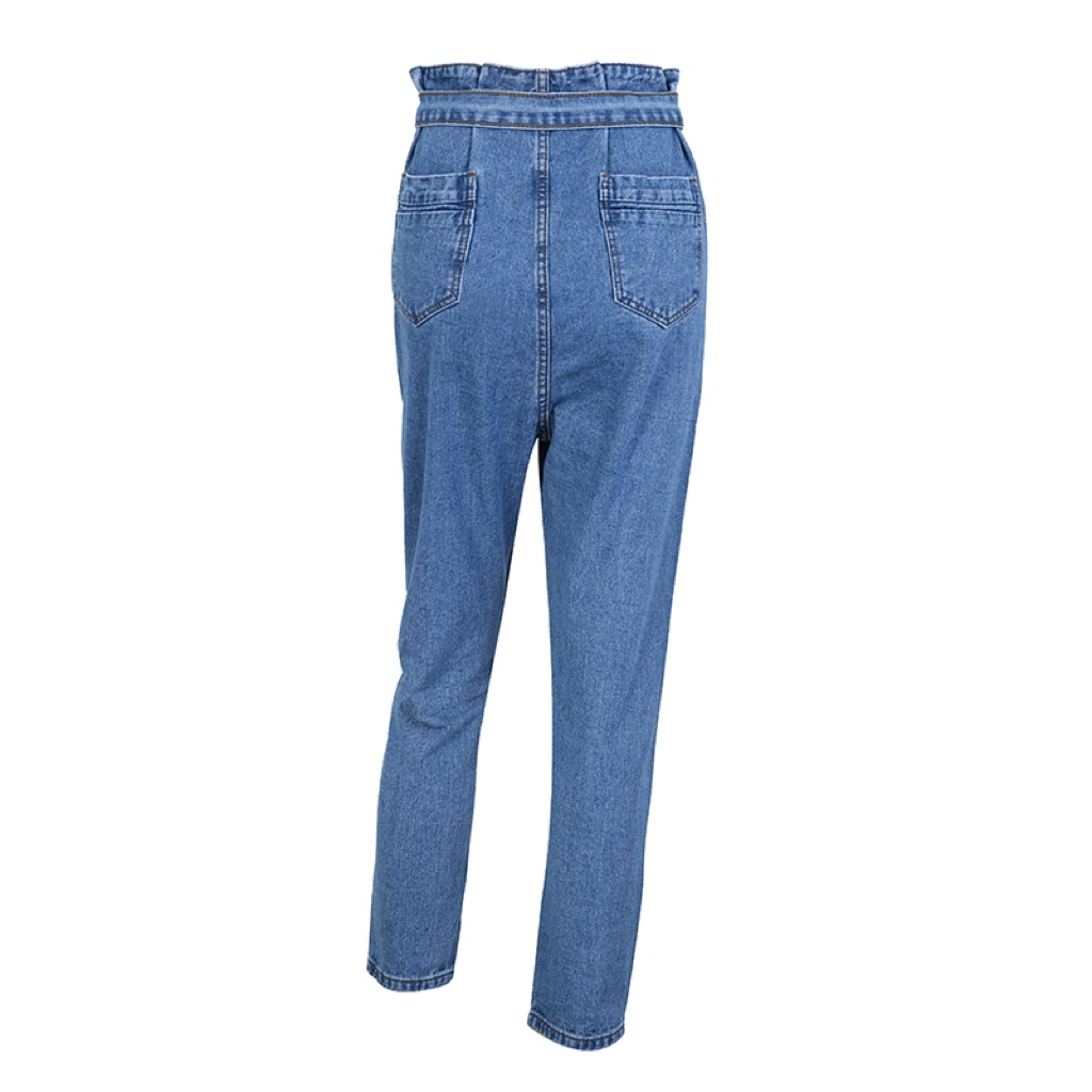 'Abbey' high wiasted denim harem trousers