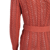 'Aioke' coral  crochet knitted one sleeve maxi dress