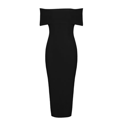 'Miley' Black Front Zip Bandage Dress
