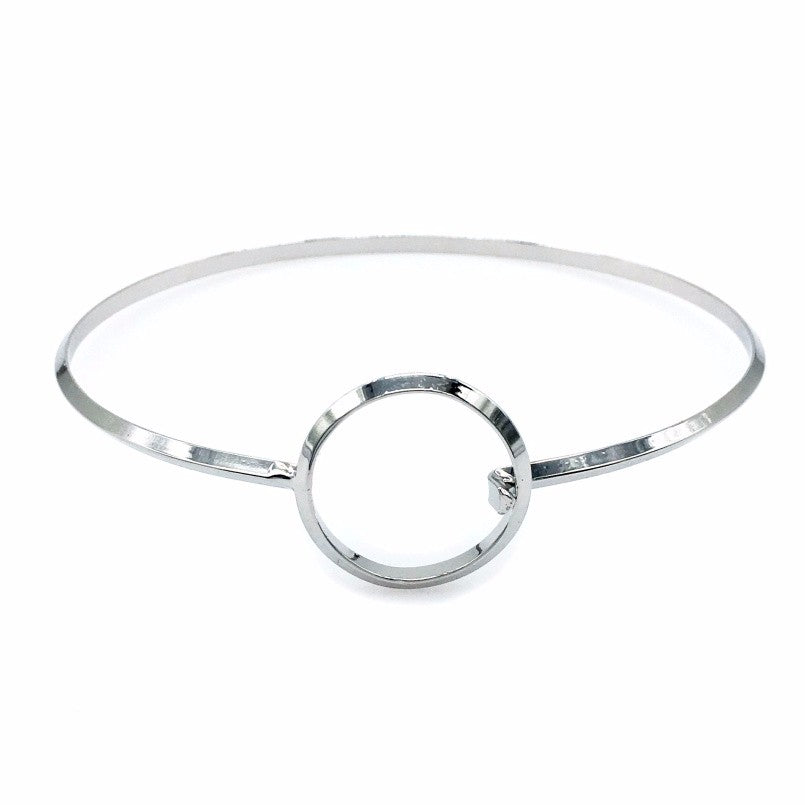 'Avi' silver ring thin choker