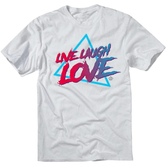 LIVE, LAUGH, LOVE T Shirt - White