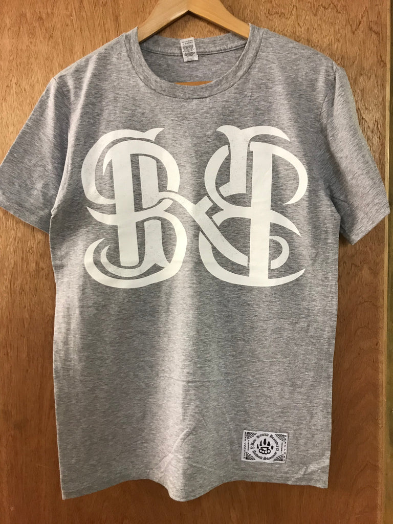 Mono grey Tee - Small - Alternative Streetwear & Street Style from Bear Knuckle Brawlers