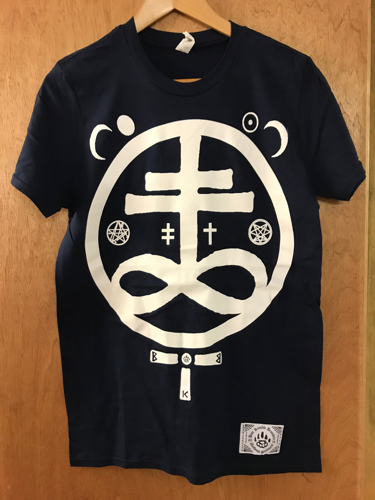 Devil Navy Tee - Small - Alternative Streetwear & Street Style from Bear Knuckle Brawlers
