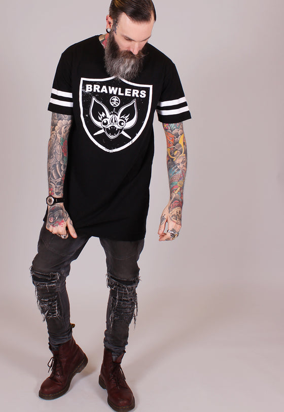 Bat Crazy - College Long Line Tee