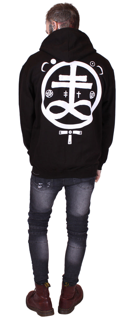 Men's Black Zip Hoodie - Devil - Alternative Streetwear & Street Style from Bear Knuckle Brawlers