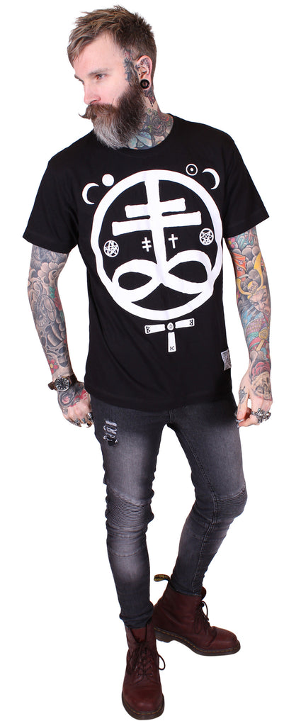 Men's Black Tee - Devil - Alternative Streetwear & Street Style from Bear Knuckle Brawlers