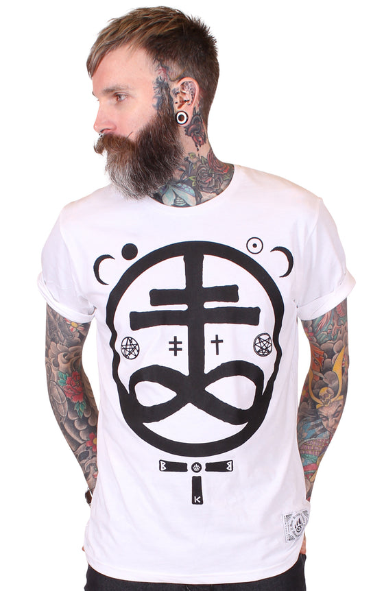 Men's White T-Shirt - Devil - Alternative Streetwear & Street Style from Bear Knuckle Brawlers