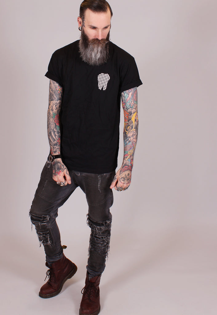 Dog Grin T Shirt - Black - Alternative Streetwear & Street Style from Bear Knuckle Brawlers