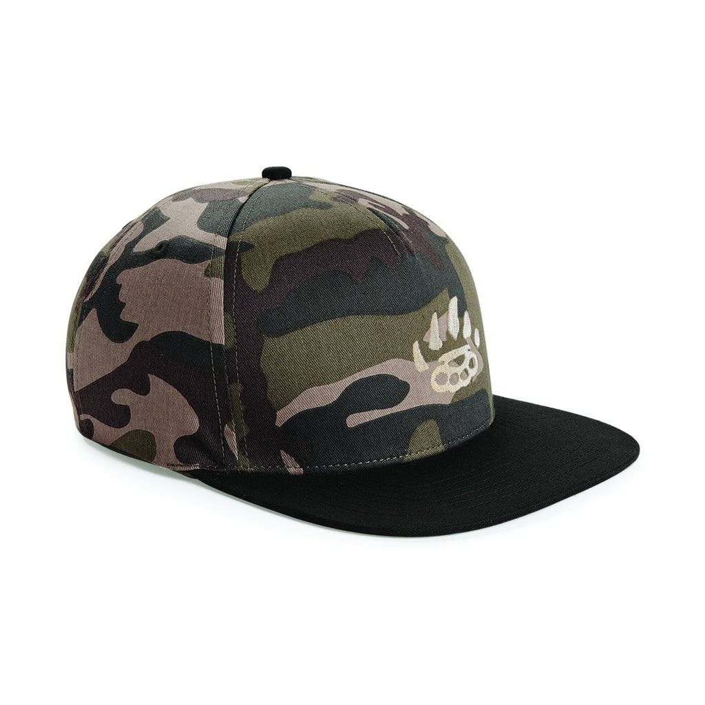 Snapback - Green Camo - Alternative Streetwear & Street Style from Bear Knuckle Brawlers