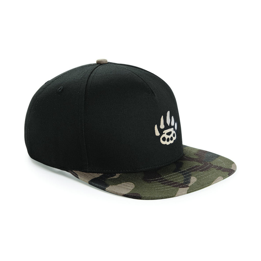 Snapback - Green Camo Peak - Alternative Streetwear & Street Style from Bear Knuckle Brawlers
